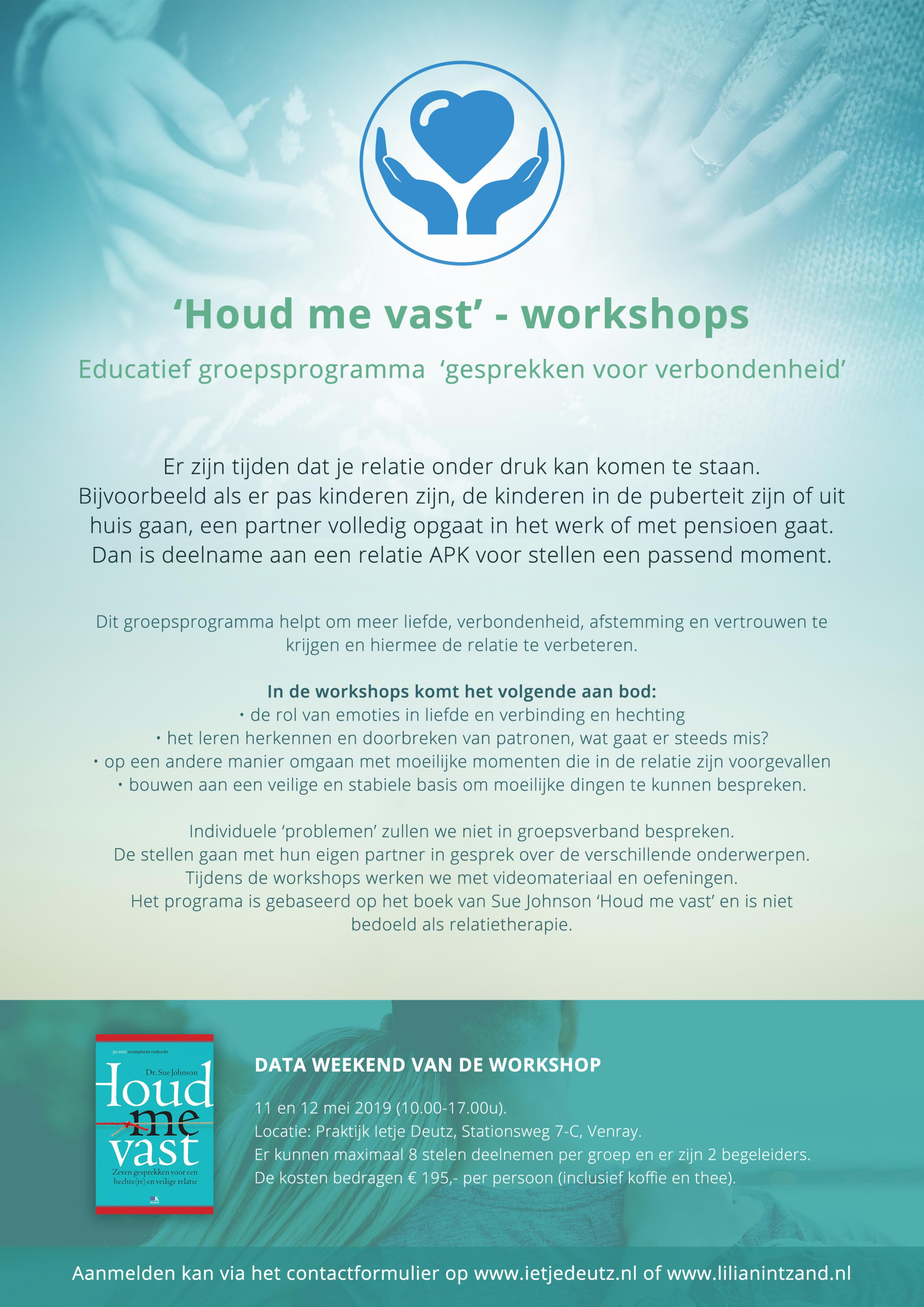 Houd me vast - workshop